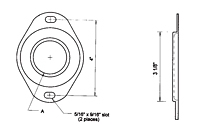 Dimensional Drawing for Flange Kits
