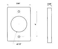 Dimensional Drawing for Weld Flange Risers