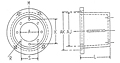 Dimensional Drawing for EM3 Series Pump/Engine Adapters