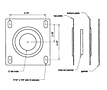 Dimensional Drawing for Flange Kits (SF-8)